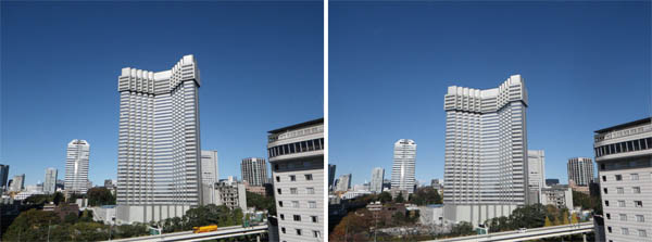 "Image via Japan Property Central. ""Left: The hotel in early November, 2012. Right: The hotel one month later in December, 2012."""