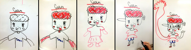 Portraits of Sean by his students. Image courtesy of Sean Montgomery.