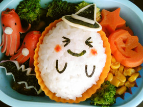 キャラ弁*ハロウィンおばけ弁当♪ by cake*mama