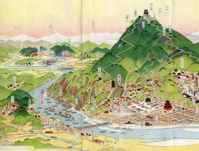 Yoshida's map of Gifu, via Spoon & Tamago