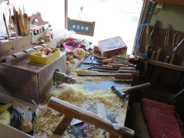 Hiroi-sensei's woodworking tools.